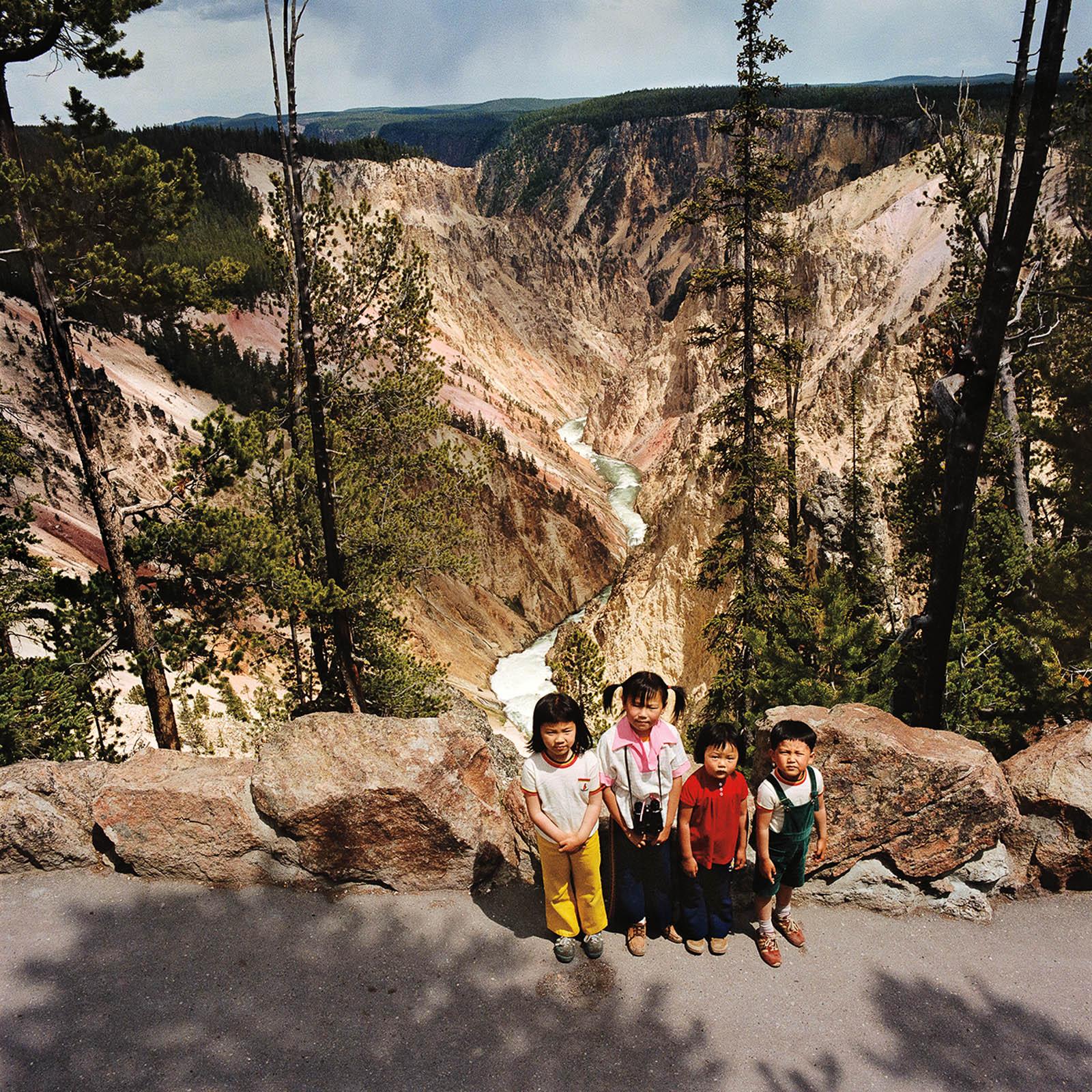 Children at Yellowstone National Park, Wyoming 1980