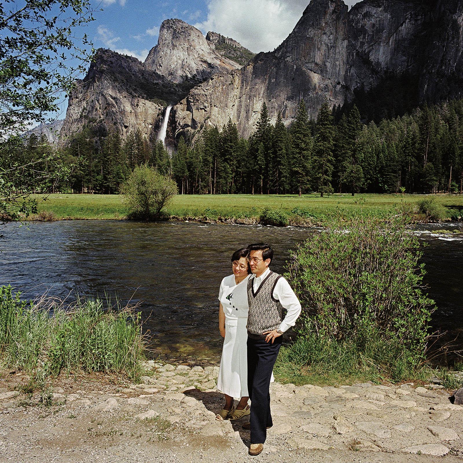Couple at Bridal Veil Falls, Yosemite National Park, California 1981