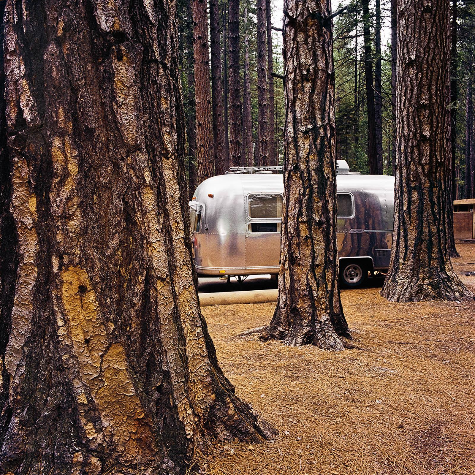 Airstream at Yosemite National Park, California 1980