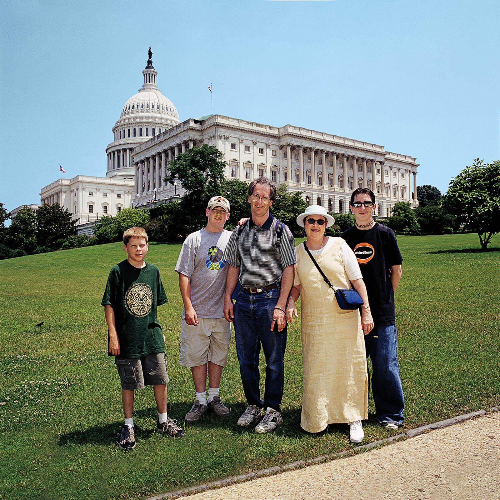 Family at United States Capitol, Washington, DC 1998