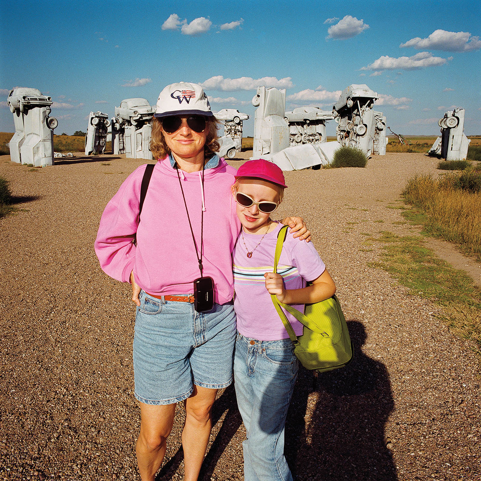 Mother & Daughter at Carhenge, Nebraska 1998