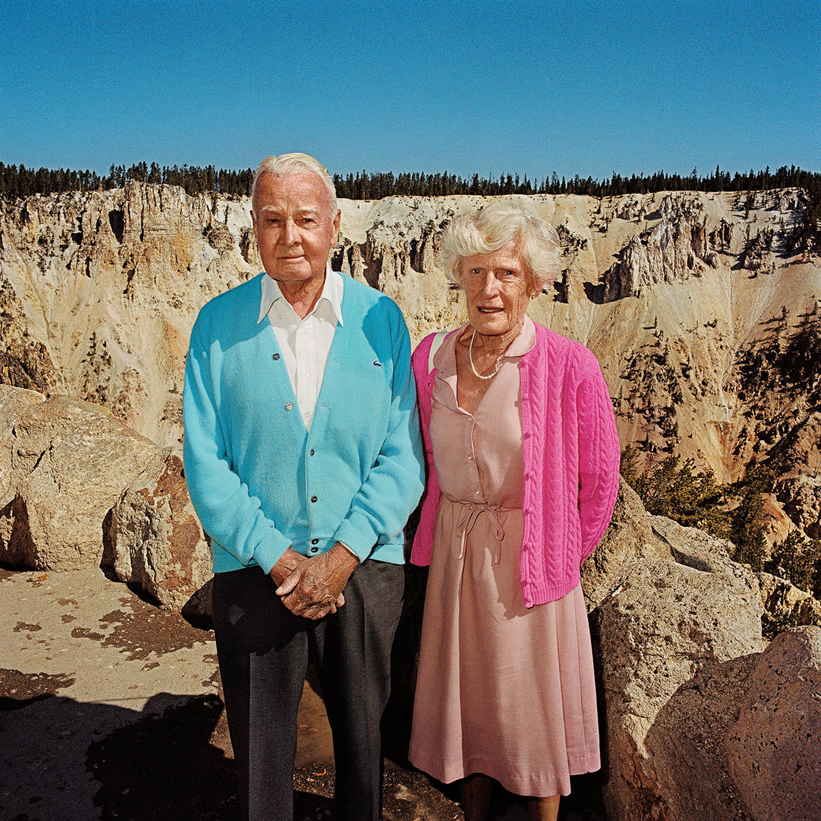 Couple at Yellowstone National Park, Wyoming 1980