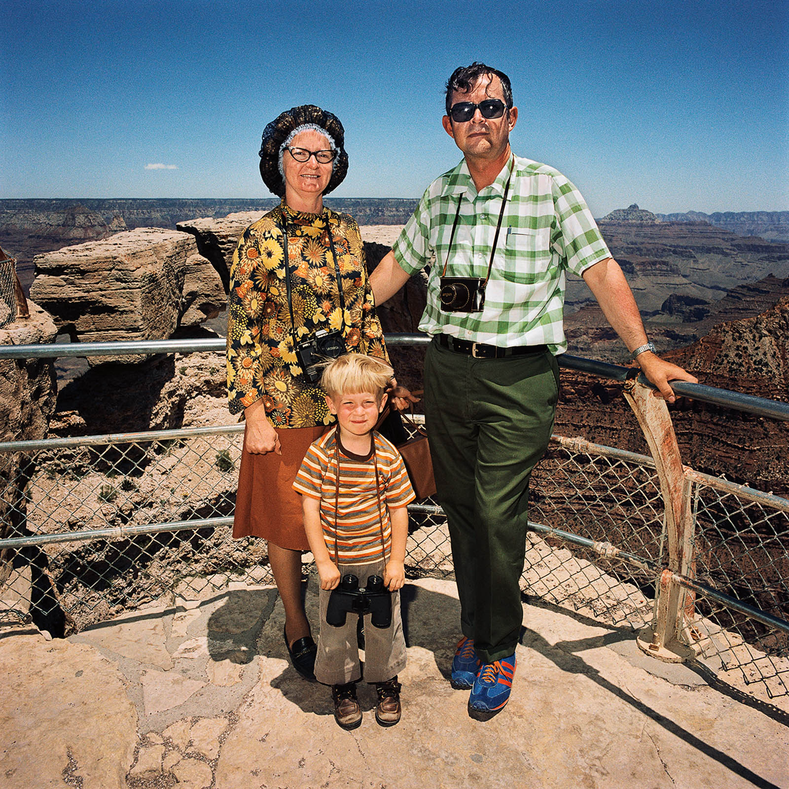 Family Wearing Earth Colors, Grand Canyon National Park, Arizona 1980