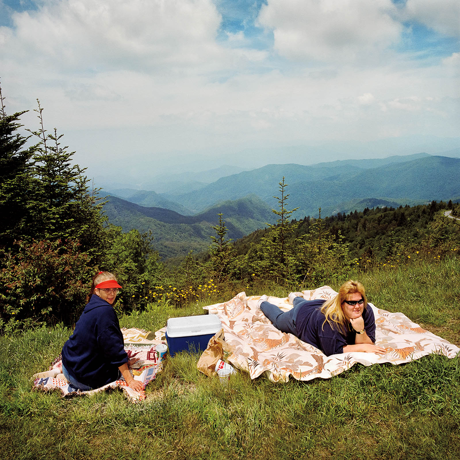 Two Women Picnicking in Great Smoky Mountains, North Carolina 1999