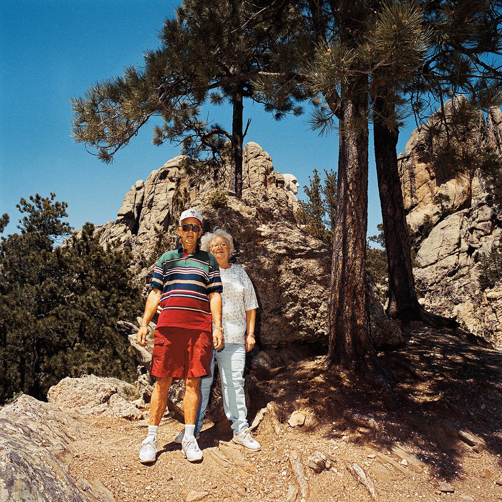 Couple at Mt Rushmore, South Dakota 1998