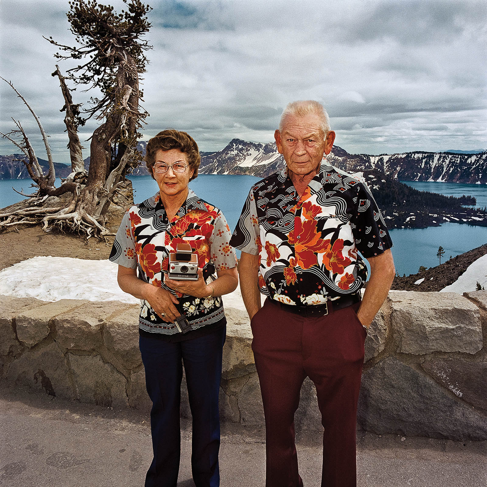 Couple at Crater Lake National Park, Oregon 1980