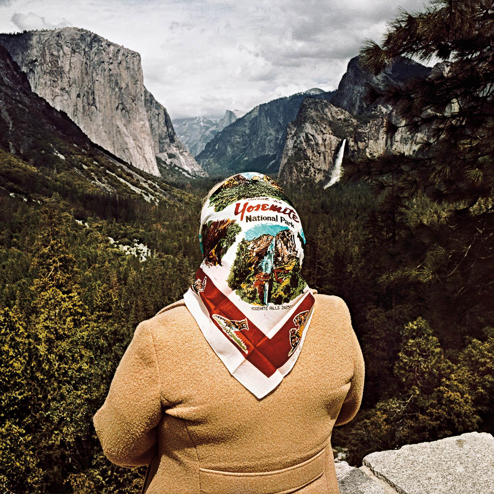 Woman at Inspiration Point, Yosemite National Park, California 1980
