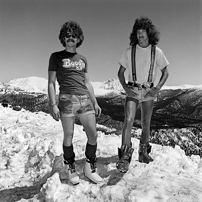 Two Men in Snow, Rocky Mountain National Park, Colorado 1979