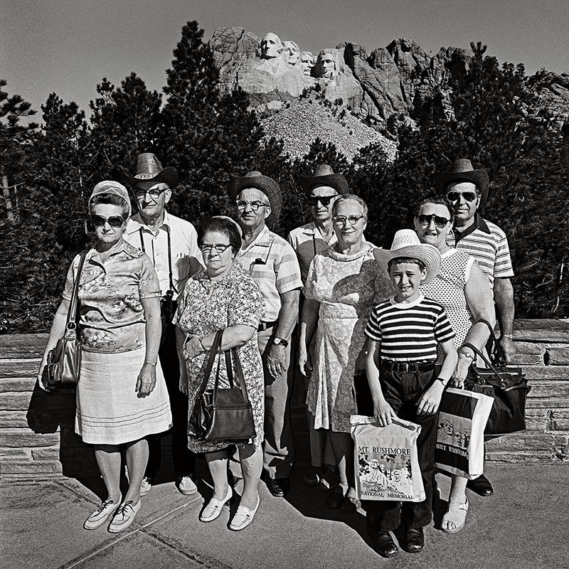 Family Group at Mt Rushmore, South Dakota 1979