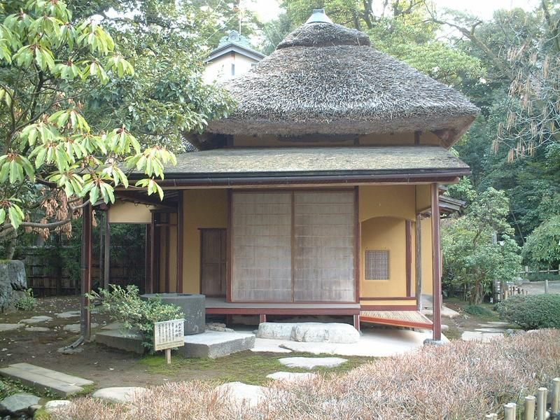 Wabi Sabi - A Japanese tea-house which reflects the wabi sarbi aesthetic in Kenroku-en (Photo by Chris Spackman)
