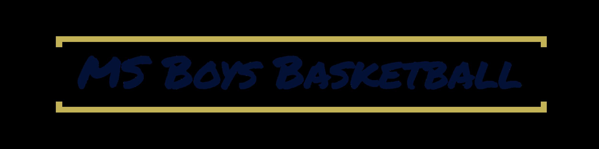MS Boys Basketball