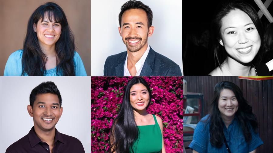 Top Row L-R: Courtney Mock, Hugh Huynh, Janice Park. Bottom L-R: Neil Thomas, Rachel Yeung, Rebecca Cho.