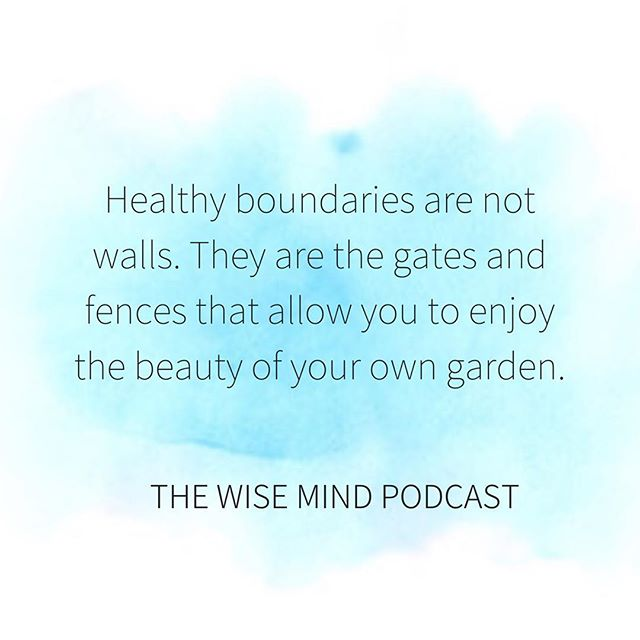 Boundaries are so important. Love yourself enough to enforce them.