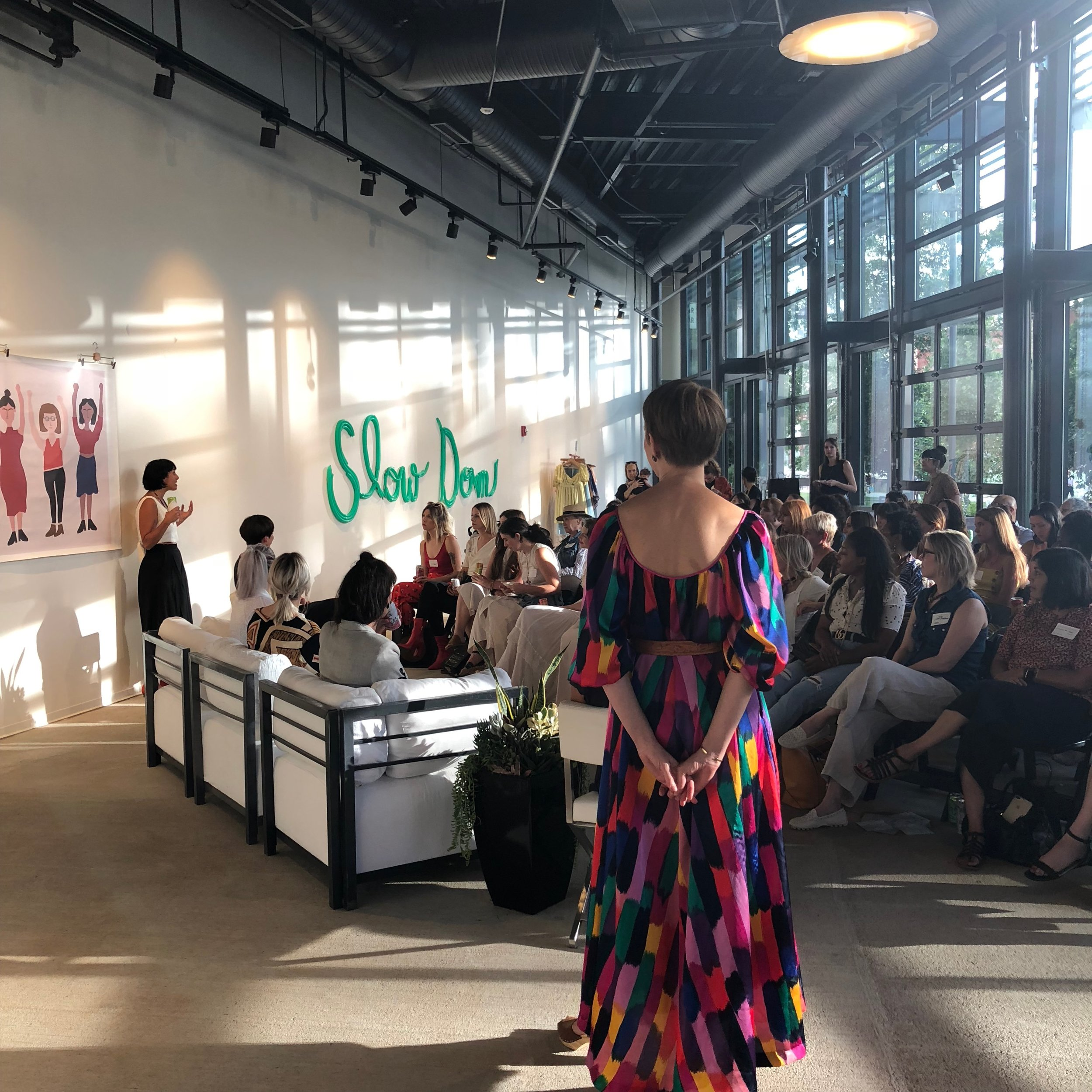Last Year - In 2018, they hosted & moderated a discussion on ethical fashion with special guest Elizabeth Cline, author of Overdressed. Also on the panel were Megan Huntz, Lauren Remesi, Tara Pesta, and Sanni BaumgärtnerThe result was a sold-out room and a conversation that lasted almost 3 hours! People were hungry for more, and they felt like there was so much more to be said.