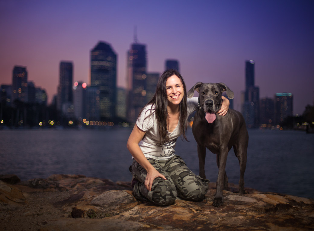 Myself and Luna at Kangaroo Point, Brisbane - this photo is so precious to me! Photo by    Dog Breath Photography   .