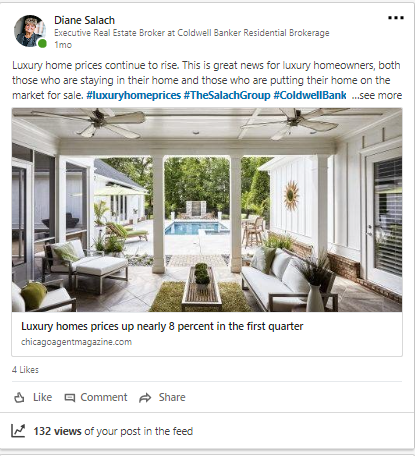 LinkedIn post for The Salach Group