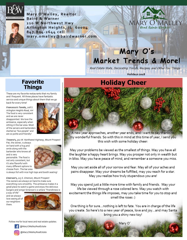 Newsletter for Baird and Warner real estate agent