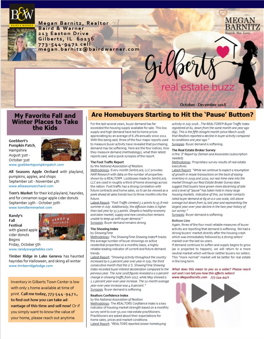 Newsletter for Chicagoland real estate broker