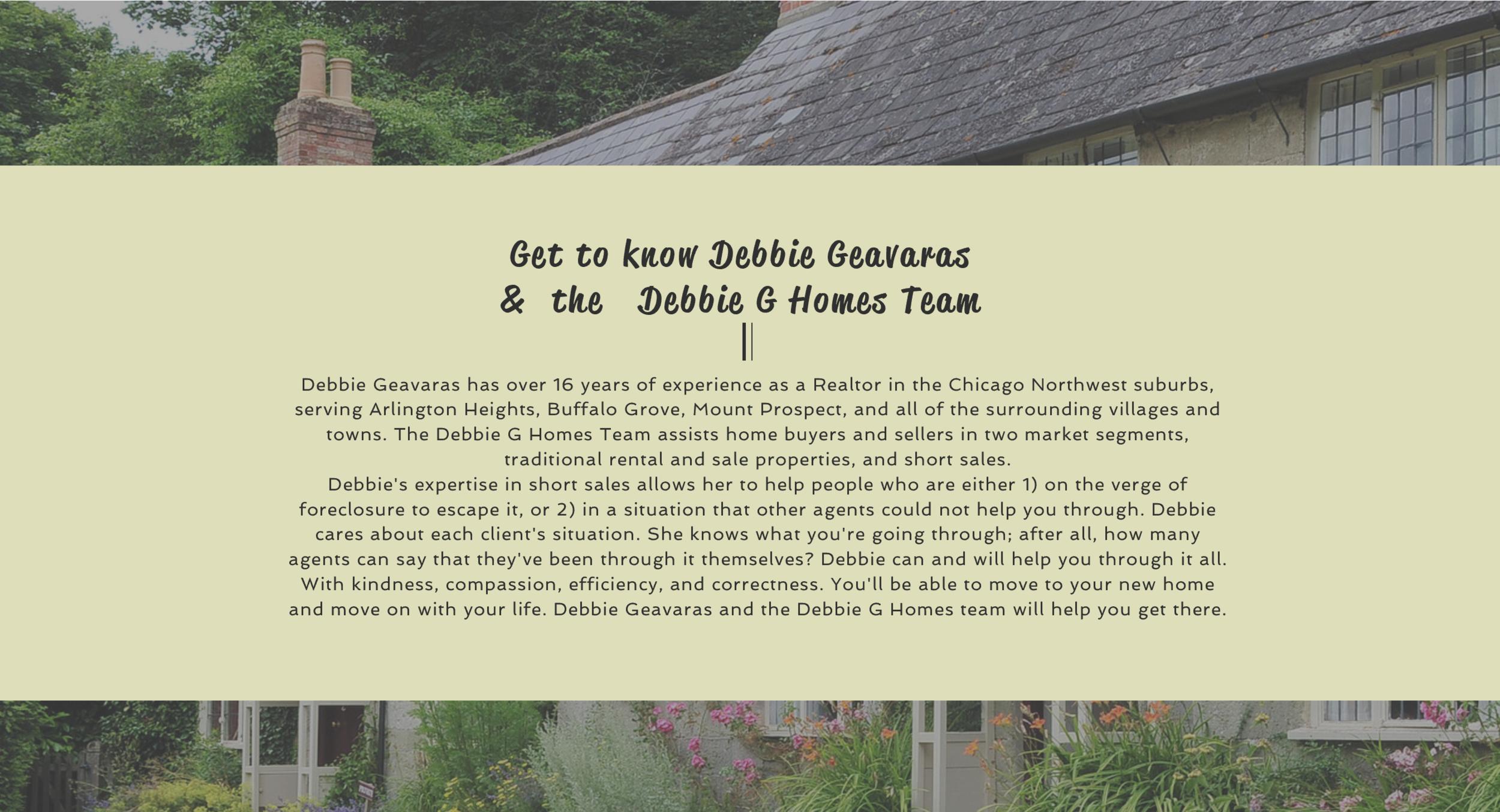 Website design about us for real estate agent