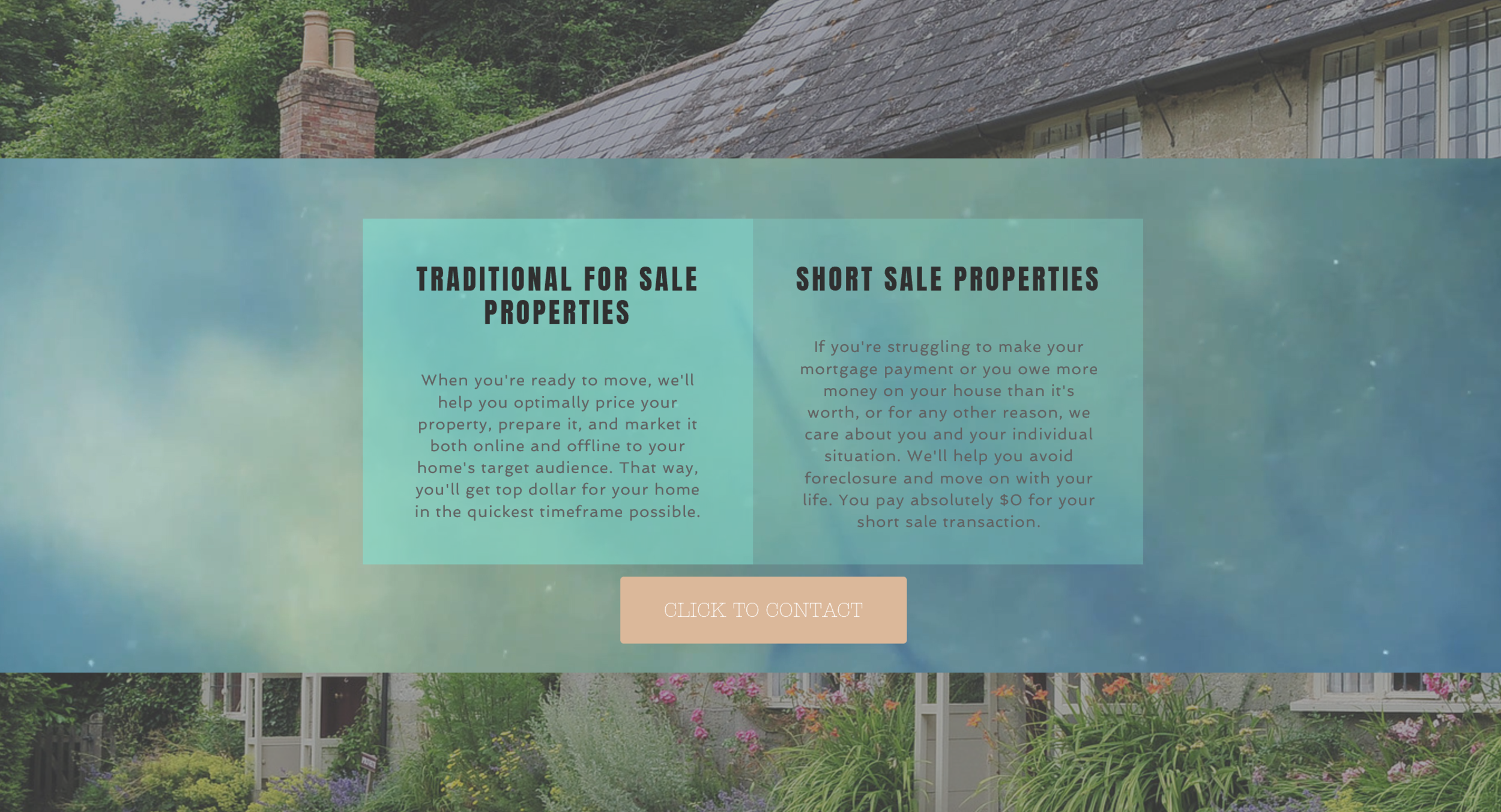 Website design services for real estate agent