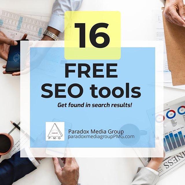 Do you want to improve your content, website speed, mobile-friendliness, and ultimately improve your search ranking? Get your copy of our list of 16 FREE SEO Tools to help you rank higher in search!  Click the link in our bio to get the list! . . . . #paradoxmediagrouppmg #pmg #socialmediamarketing #mediaagency #chicagomarketing #chicagolandmediaagency #losangelesdigitalmarketing #seotools #digitalmarketingtools #seoranking #rankmysite #websiteranking #socialmediaagency #seo