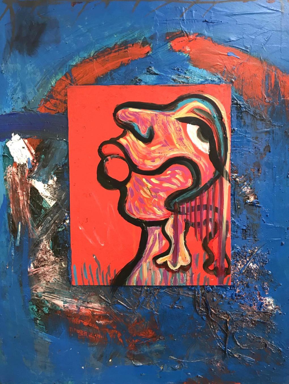 Nourishing Blue Memories (Triptych), 18x24 each, Acrylic, gouache on canvas 2017  - 1/3
