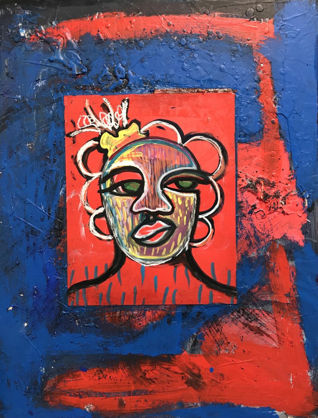 Nourishing Blue Memories (Triptych), 18x24 each, Acrylic, gouache on canvas 2017  - 3/3