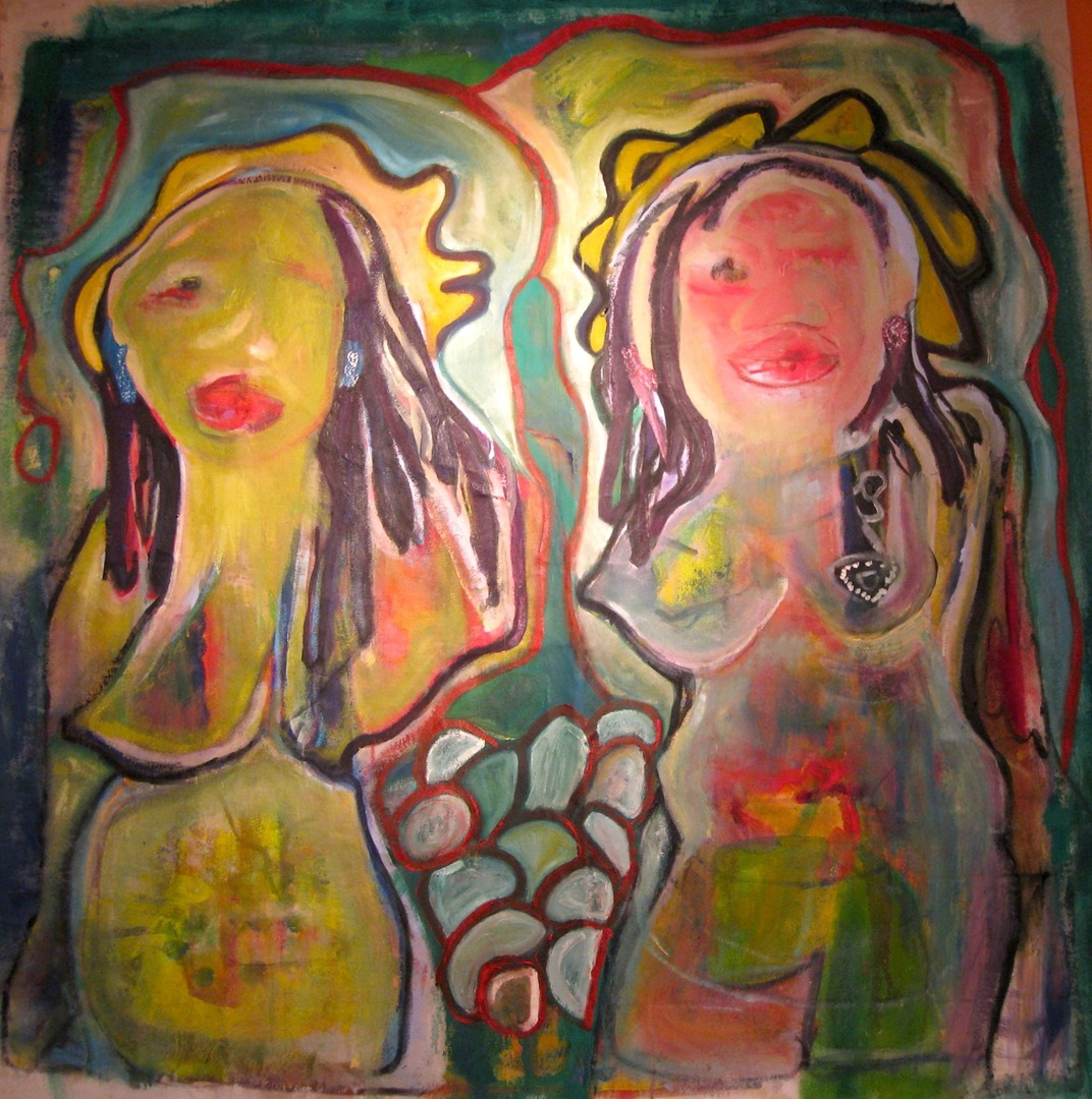 Twins, oil on canvas