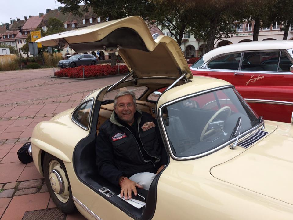 Junghans Oldtimer Rallye, Co-Pilot of the son Hannes of the Junghans owner family Steim at Schramberg, an outstanding driving experience