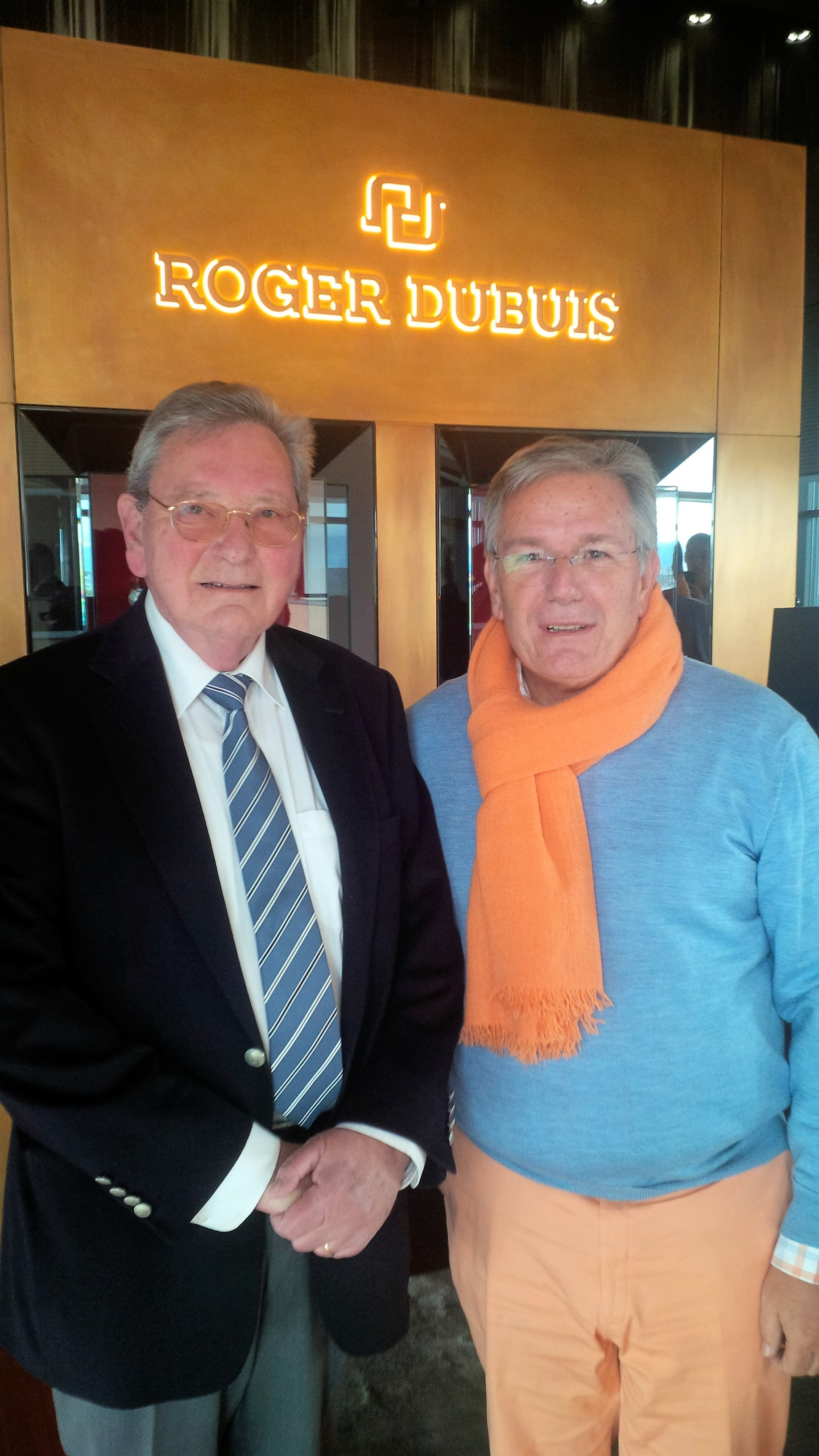 With Co-founder Roger Dubuis in Meyrin-Geneve, died in October 2017
