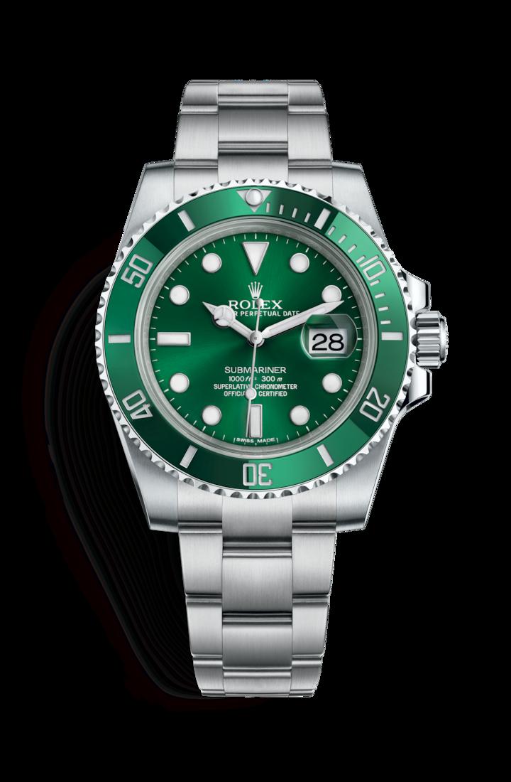 Rolex Hulk - Rolex Submariner Date, Ref. 116610LV, Nickname: