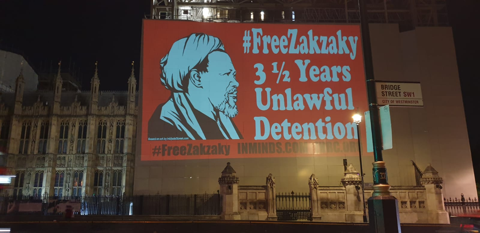 PROJECTION PROTEST ON WESTMINSTER & NIGERIAN EMBASSY