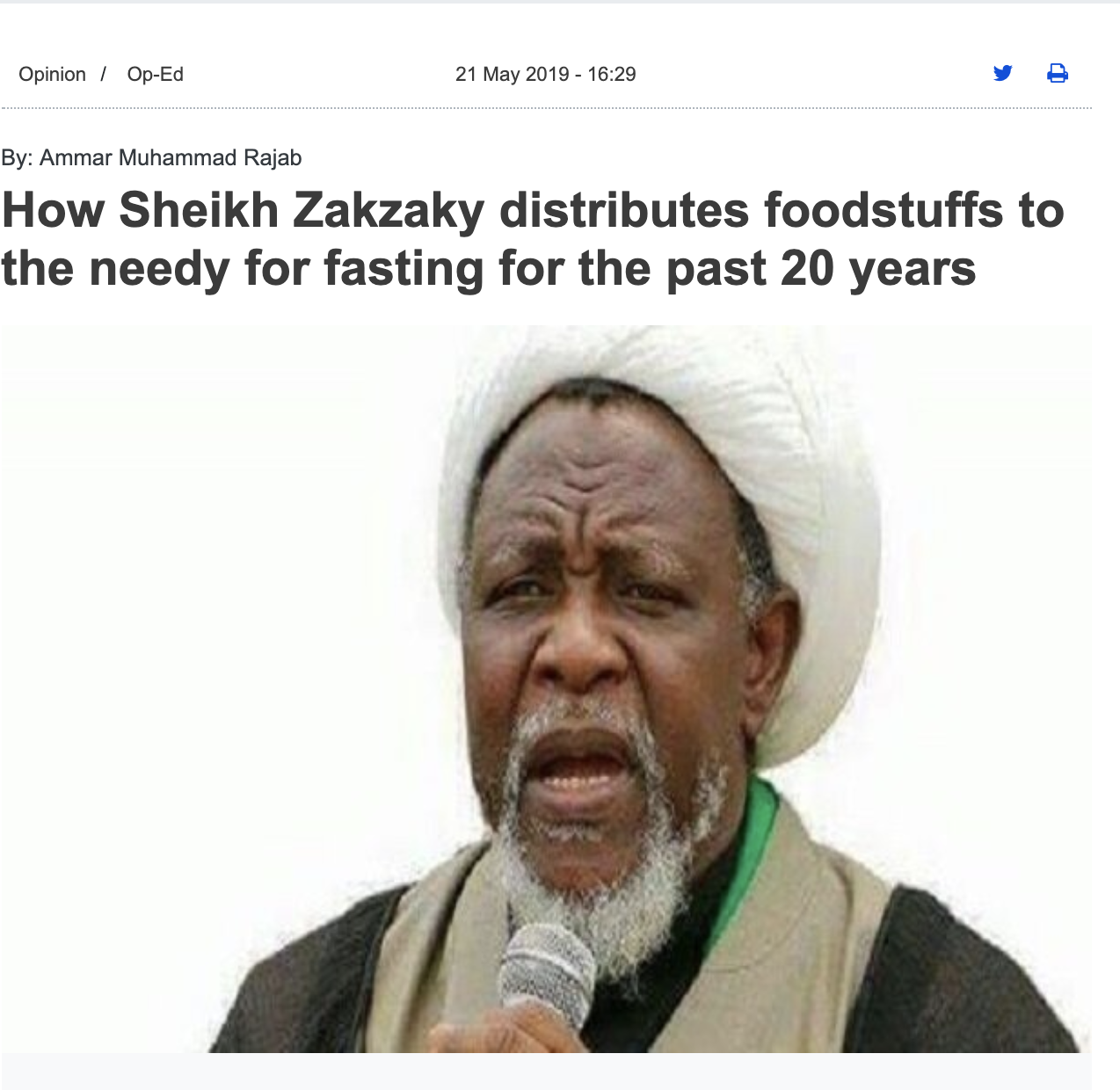 "READ THE FULL ARTICLE - ""The food items, which included Sugar, Rice, Wheat, Sorghum and so on, were distributed as has been the practice all these years, including the years he has been in illegal detention, as instructed by him last week when a section of his family members were allowed a rare visit to him."""