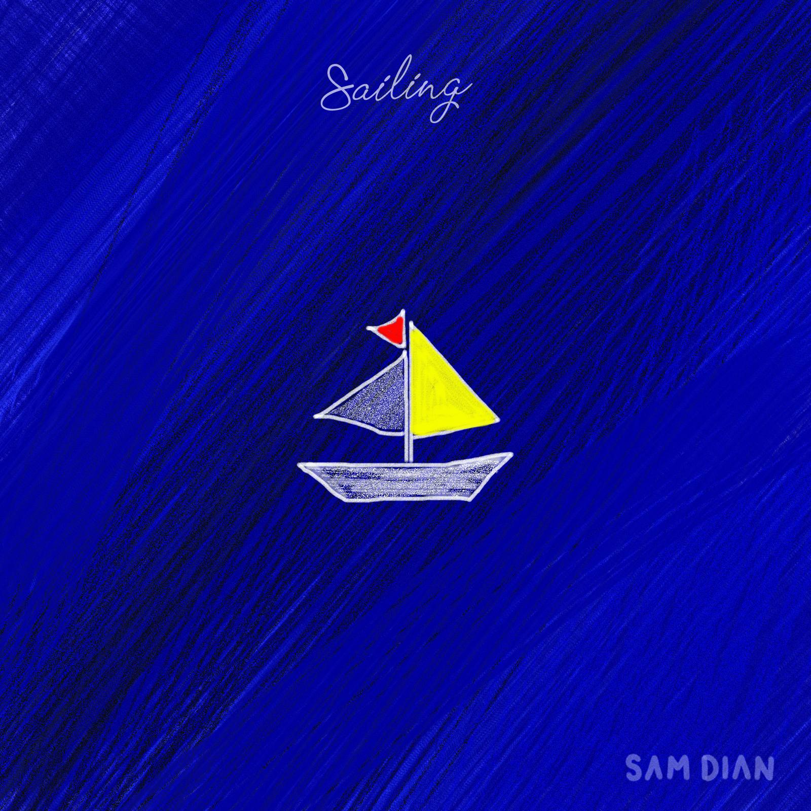 """Cover """"Sailing"""" Sam dian -"""