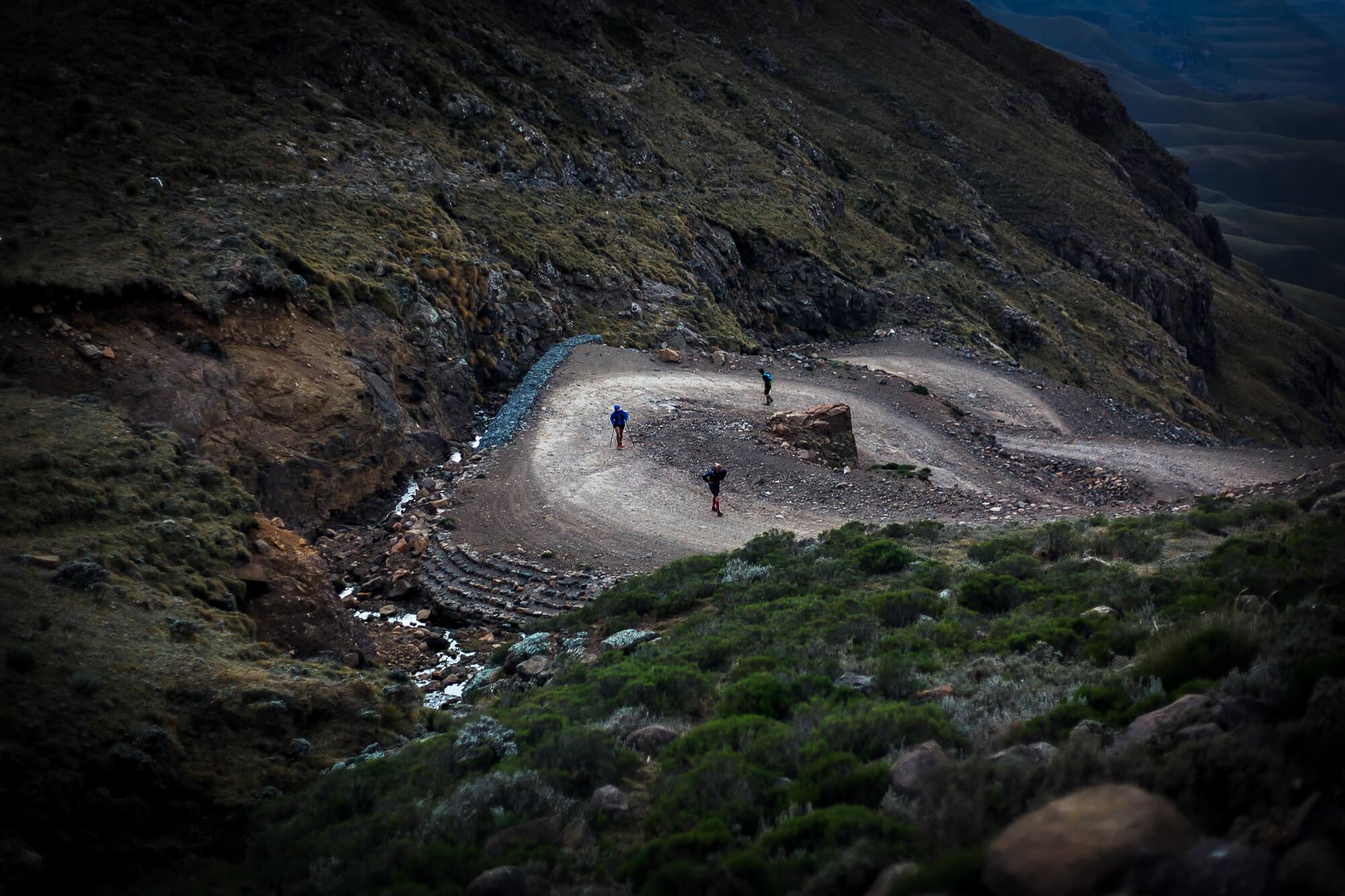 The climb up Sani Pass