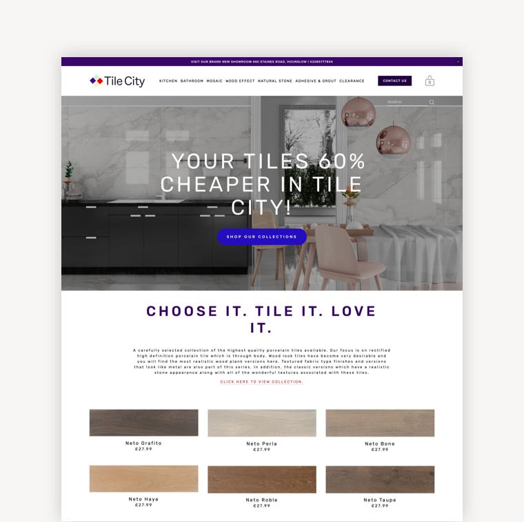 Tile City UK, Online Store