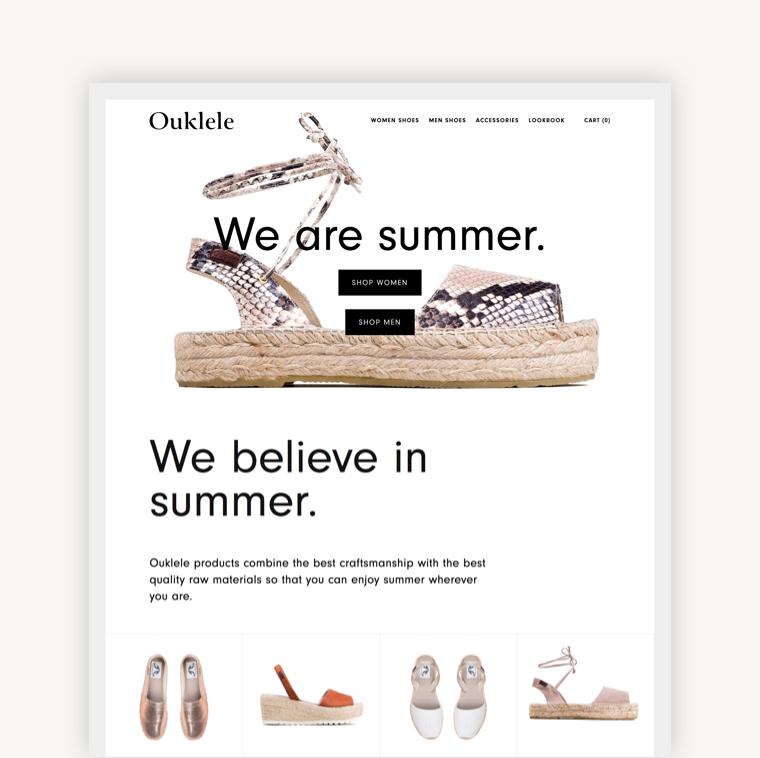 Ouklele, Summer Shoes & Accessories.