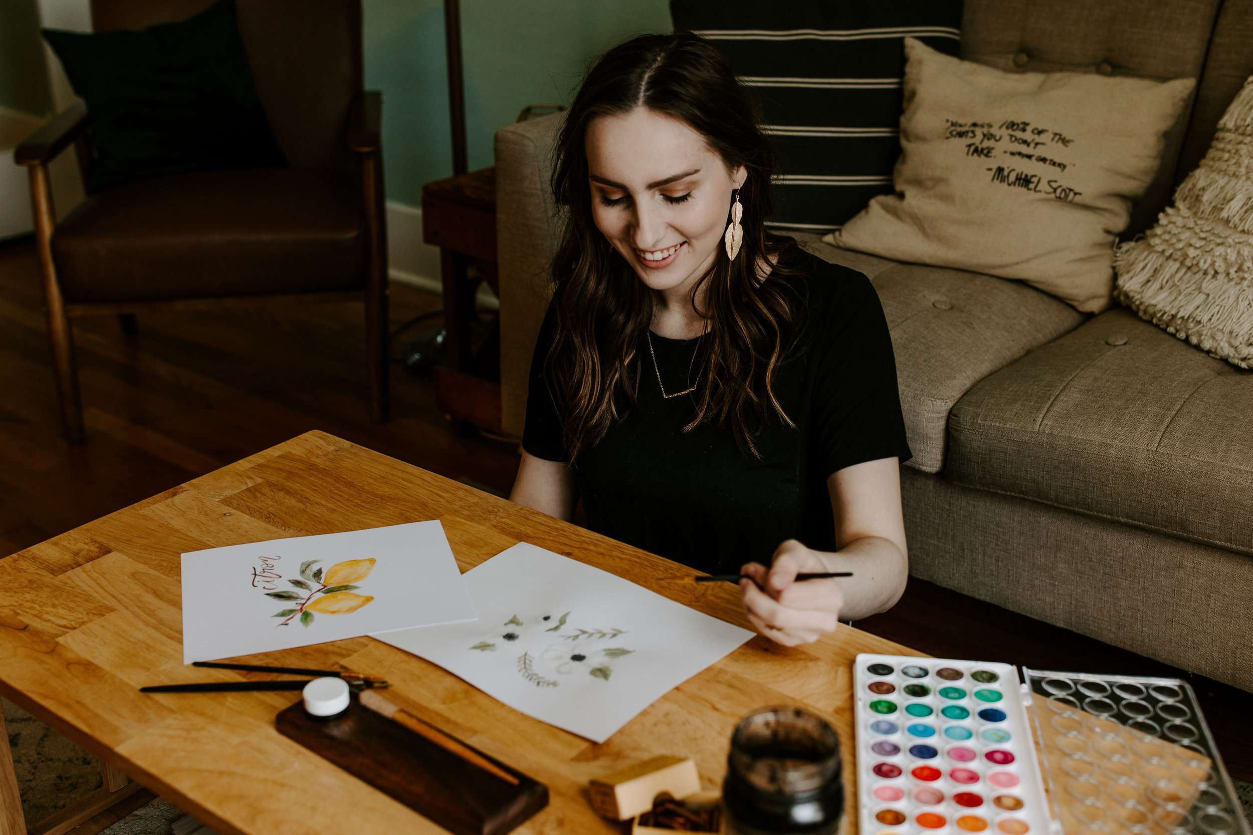 M E E T T A R A - Tara is the left-handed calligrapher and designer behind all that you see here. Her creative vision paired with modern script makes for whimsical and classic designs.