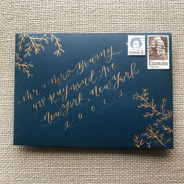 a september inspired envelope on this perfect rainy, almost-autumn-but-still-summer-day we had here in moscow.