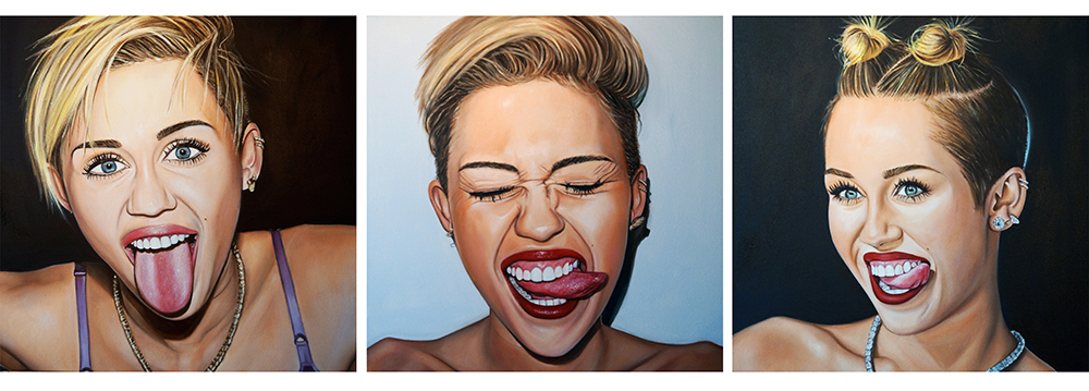 Miley Tongue Triptych