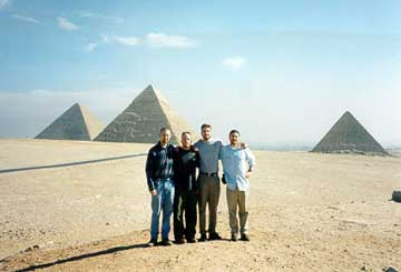 [the guys in Egypt - photo by four soulsthebook.com]