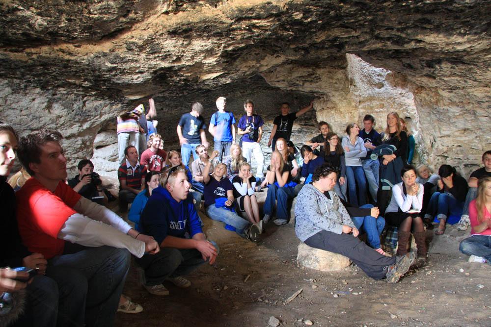 Inside the Cave of Adullam [photo: israel09.wordpress.com]