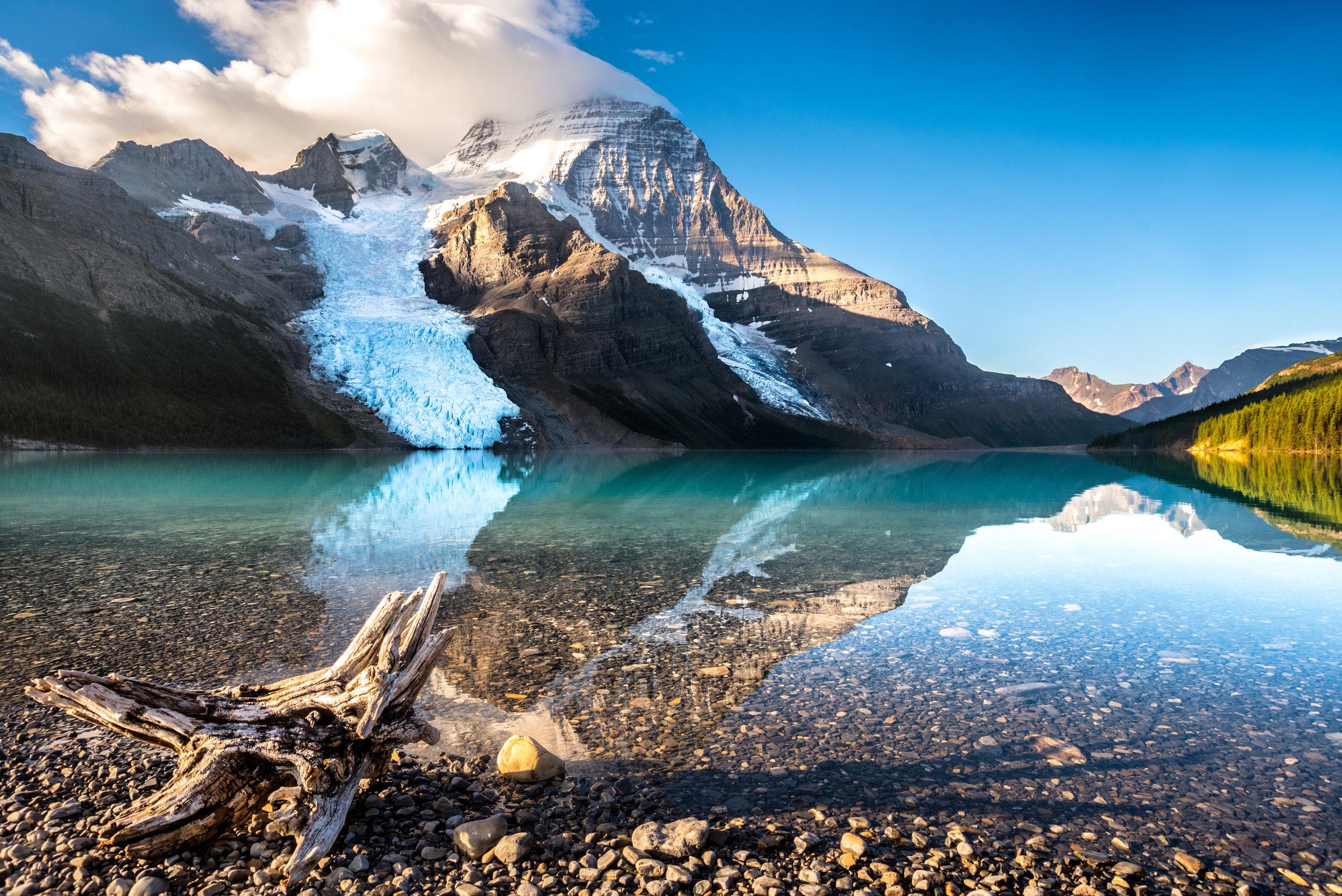Early morning light at Berg Lake  - Mount Robson Provincial Park, British Columbia