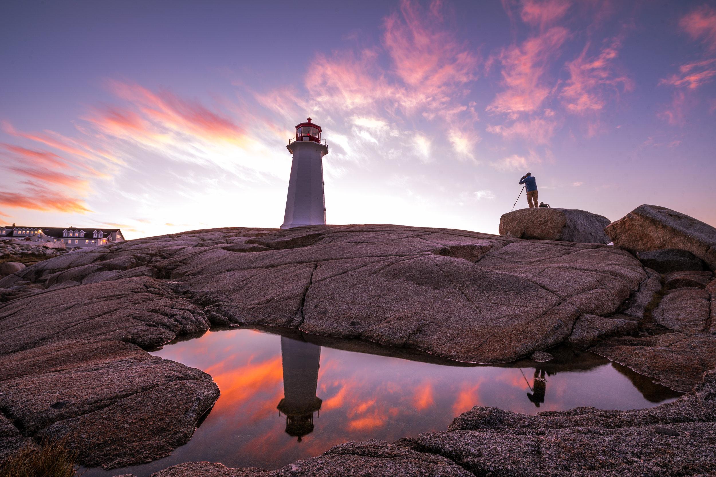 Sunrise at Peggy's Cove  - Arcadian Coast, Nova Scotia