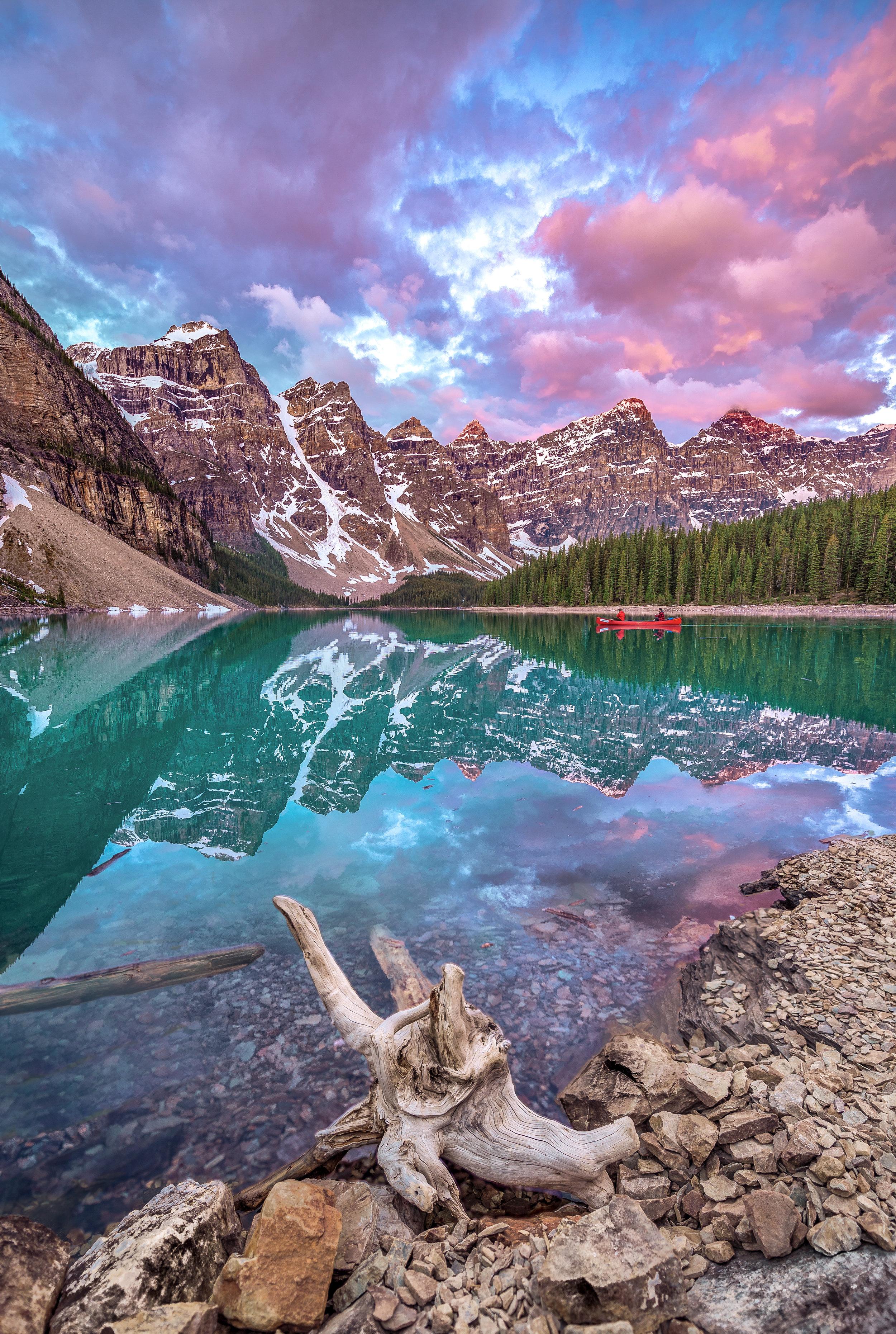 Sunrise at Moraine Lake - Banff National Park, Alberta