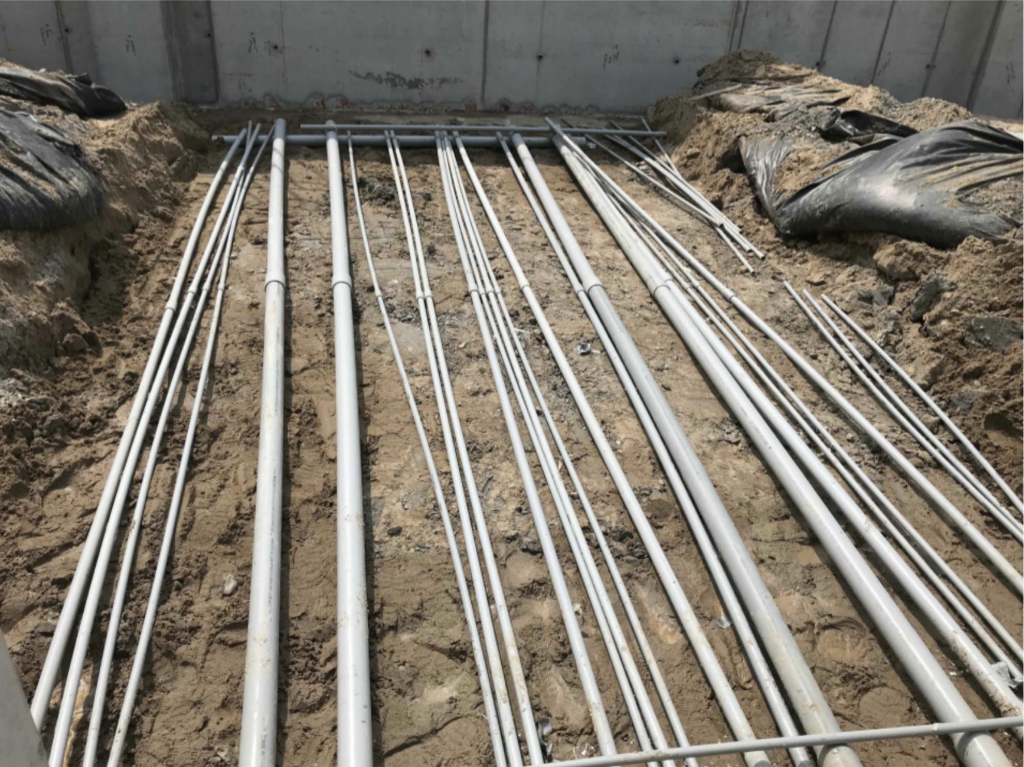 Underground electrical conduit in storage room