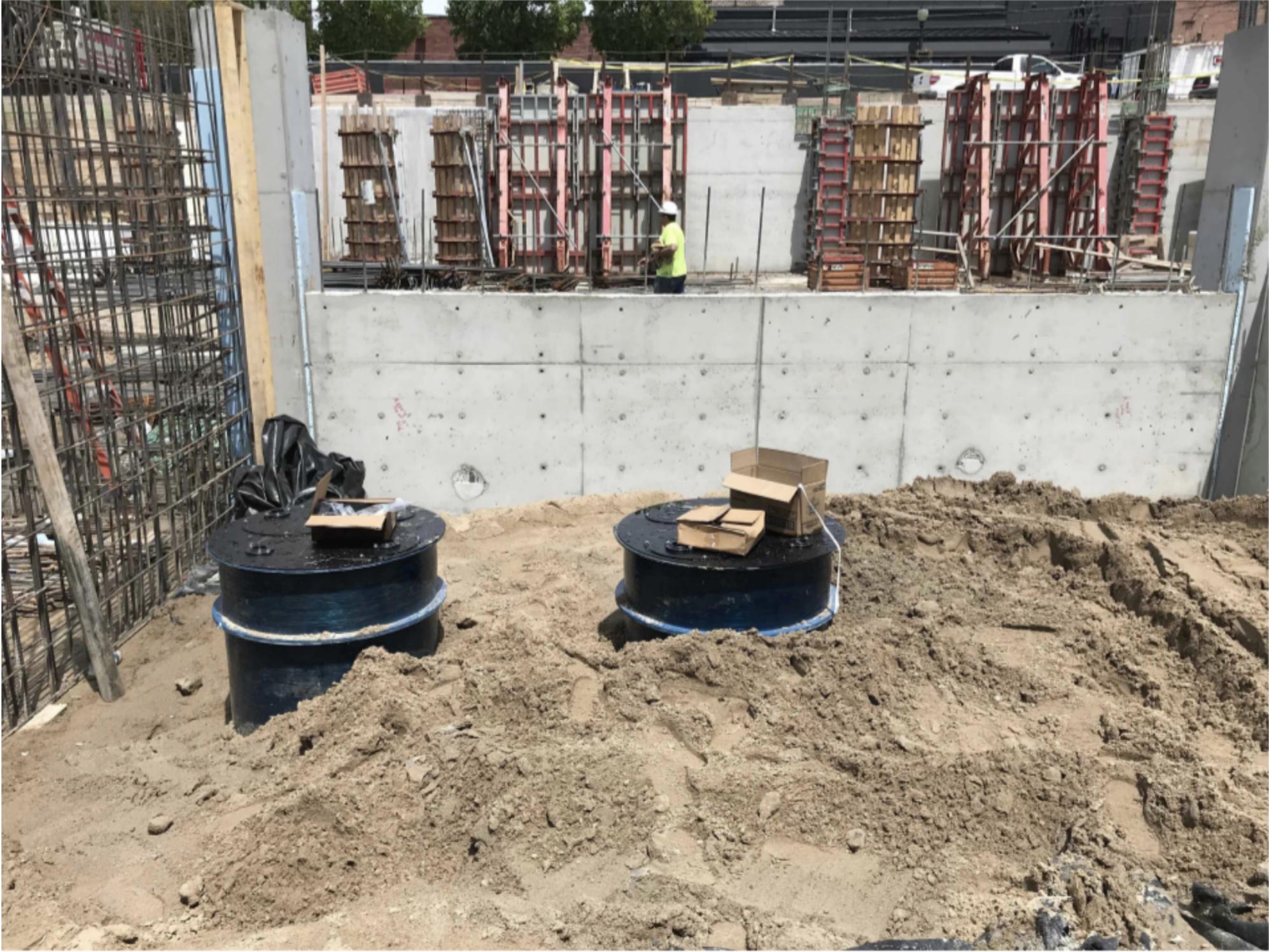 Installation of sump basins in storage room
