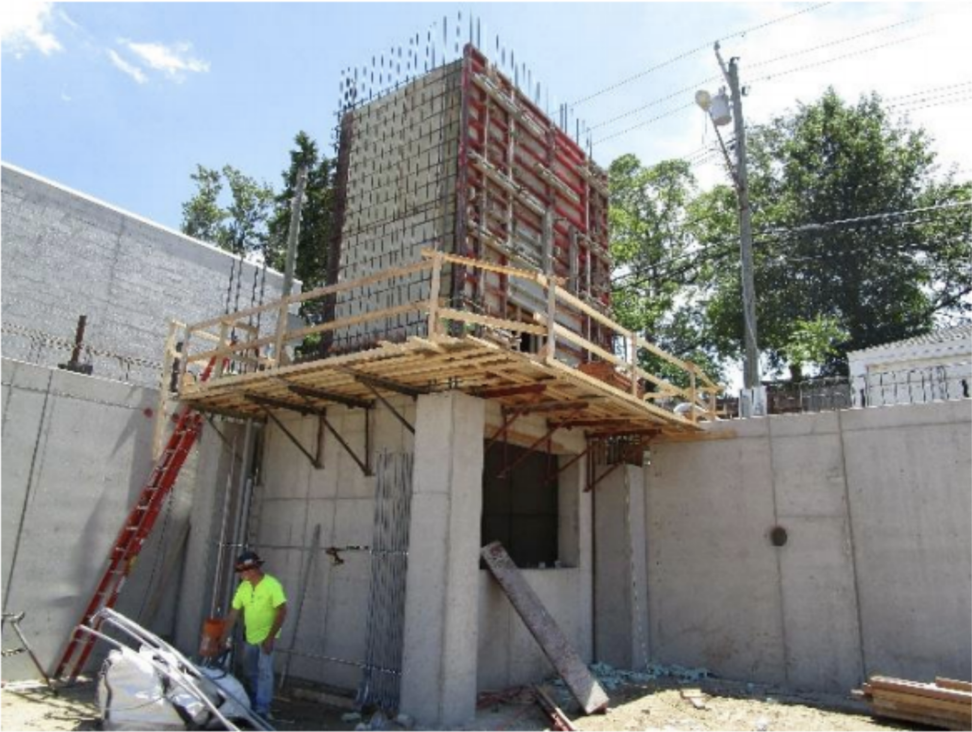 Conduit was being installed at the southeast shaft