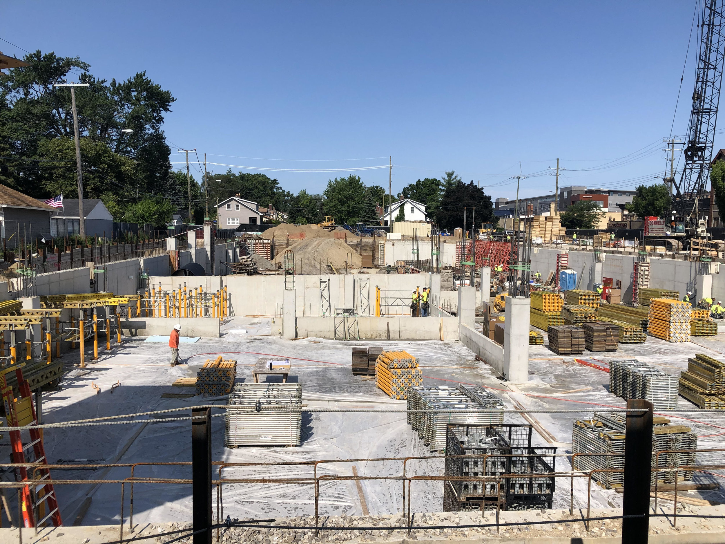 Basement floor is done and foundations and react pillars are being formed
