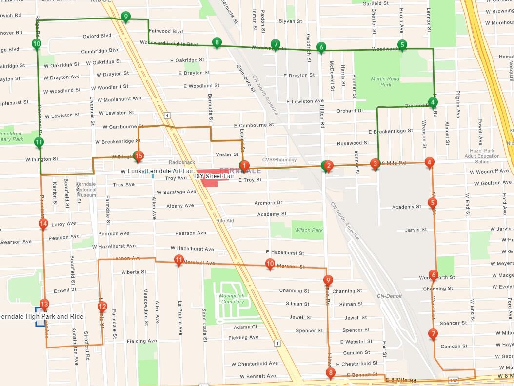 DIY and Funky Ferndale Route Map.JPG